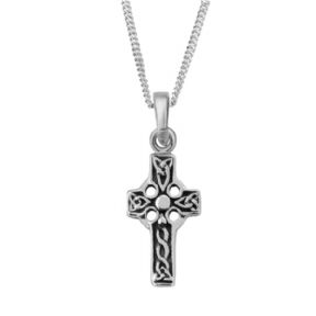 Celtic Iona Cross Silver Pendant 0893